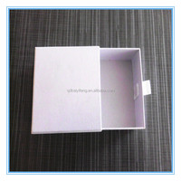 white paperboard sliding drawer gift boxes design