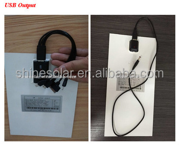 Factory Direct Supply Custom-Made Cheap Price 6w flexible solar panel A grade sunpower cell usb output