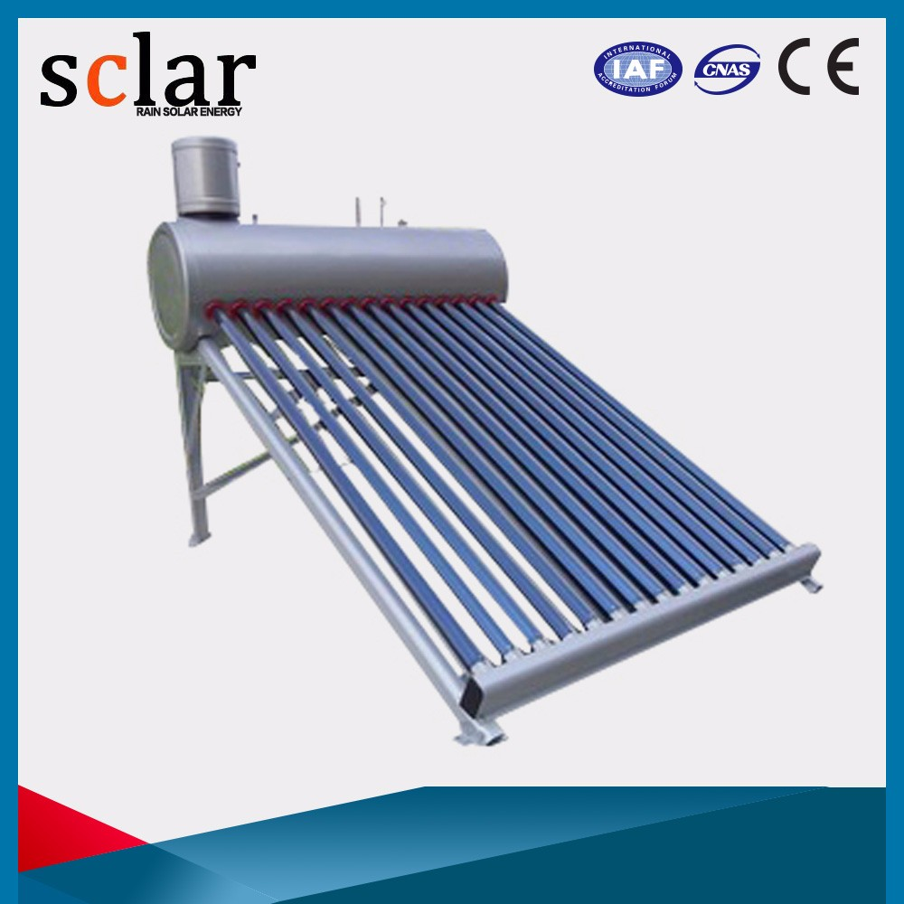 300L solar energy storage tank solar water heater with stainless steel assistant tank
