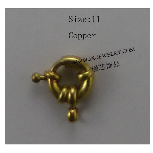 Wholesale Jewelry Clasps Copper Material Size 11mm For Bracelet Necklace