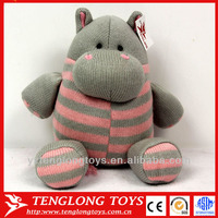 Cute stuffed cartoon character hippo toy