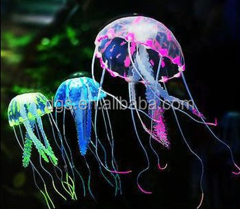 Jellyfish fish Aquarium Decoration jellyfish Glowing Vivid Artificial fish jar decoration