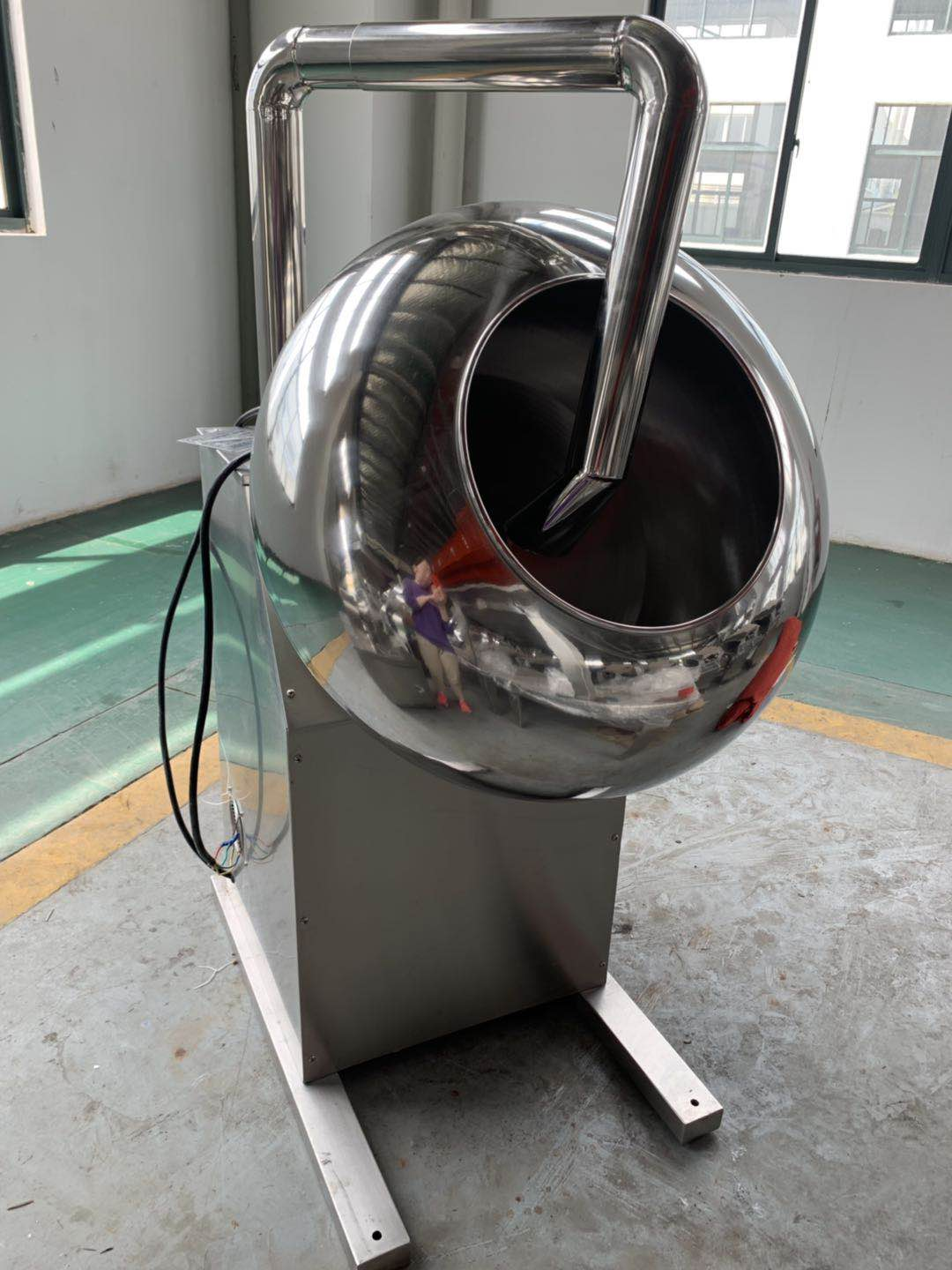 High quality stainless steel Industrial automatic popular chocolate beans polishing machinery for sale