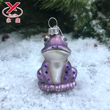 Glass frog mold animal figurines blown glass ornaments