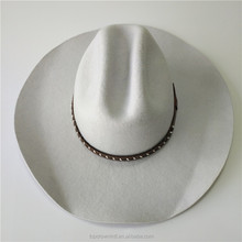 Wholesale High Quality Custom White Color Wool Cowboy Hat CH99