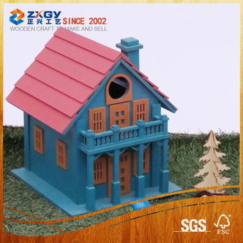 Wooden Bird House With Different Image Design Buy Wooden