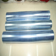 Factory!! pvc shrink film/clear transparent blue pvc shrink film