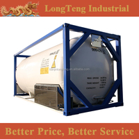 19500 liters T75 20' cryogenic gas tank container for LIN, LOX, LAR, Ethylene