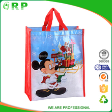 Supermarket promotion RPET custom reusable folding shopping bags