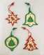 Wooden laser reindeer and tree pattern christmas hanging ornaments for XMAS tree home decoration