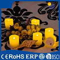 Factory price battary power pillar mini led tea light yellow flameless candle tealight