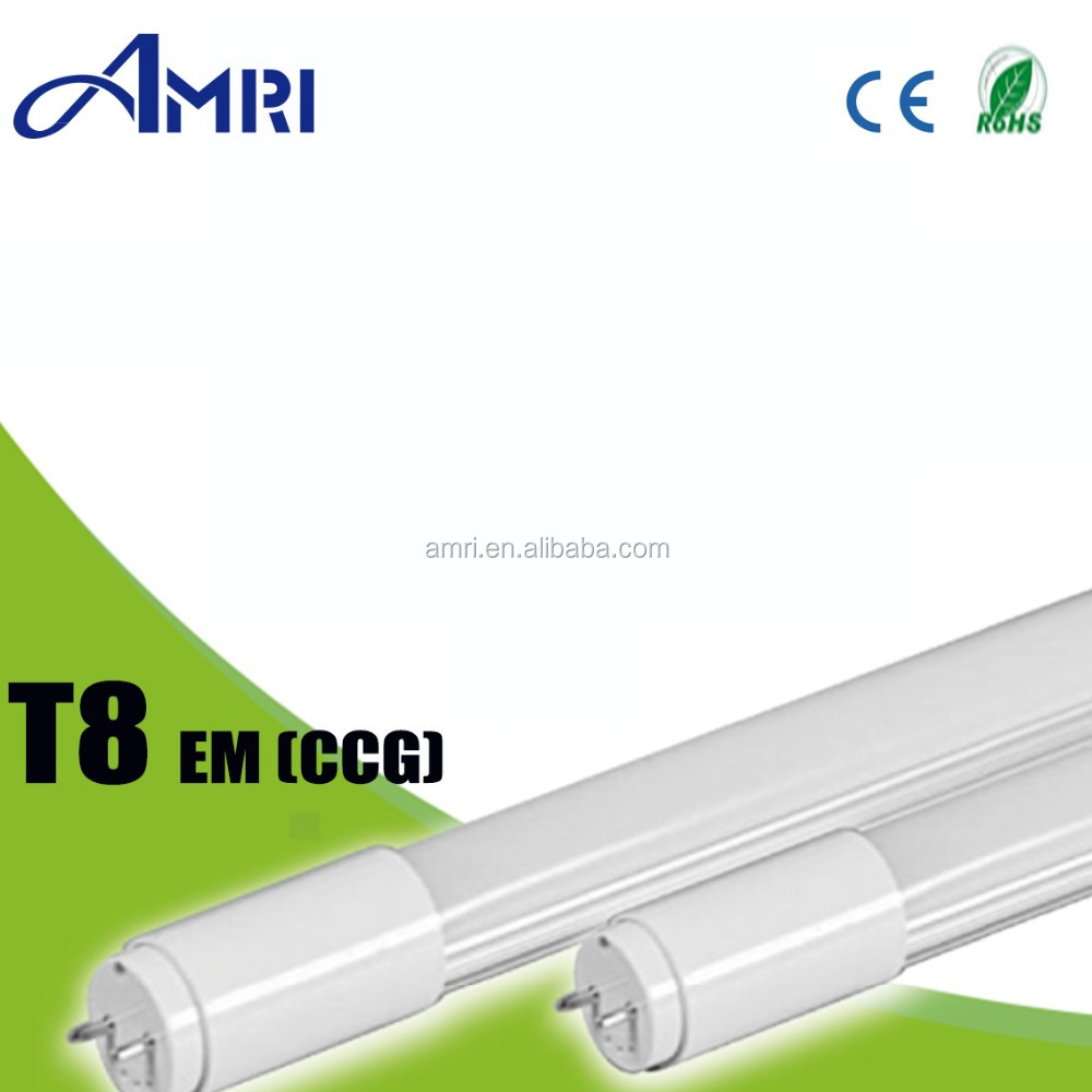T8 EM LED tube light lamp single end power compatible magnetic ballast CE and Rohs
