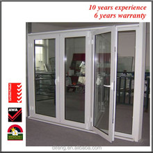 New design anti-noise french metal double doors exterior