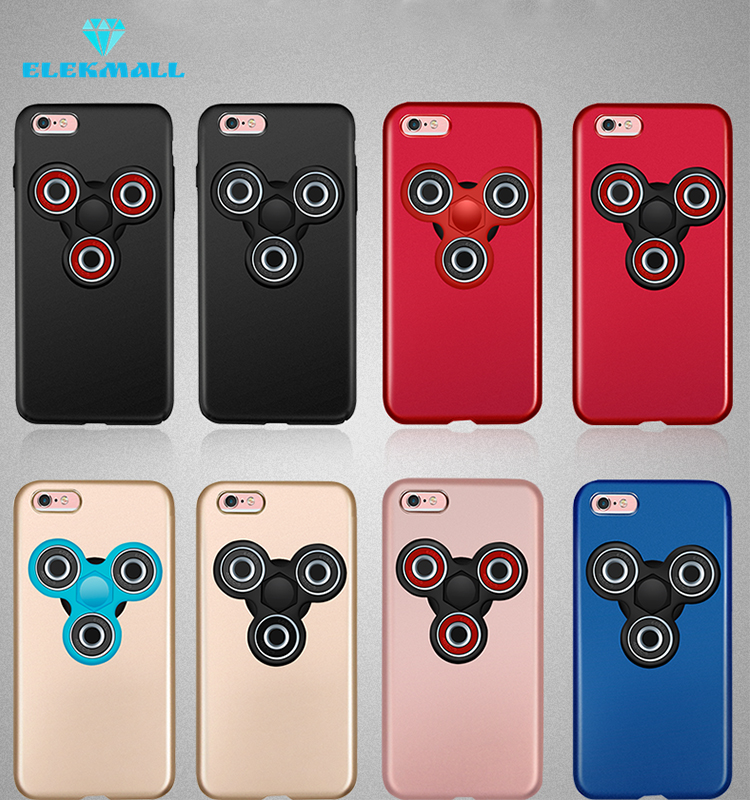 Hottest Mobile Phone accessories Hand Spinner Fidget Toy Case for iphone 7 PC Case