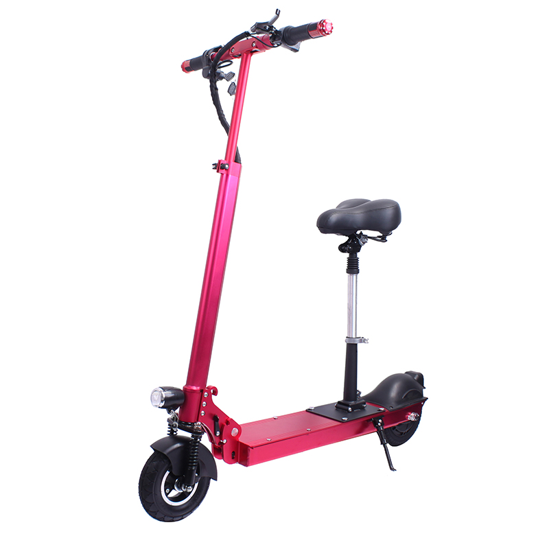 two wheel electric scooter adult use 8 inch 350w big pedal with seat design 2018 new KV950