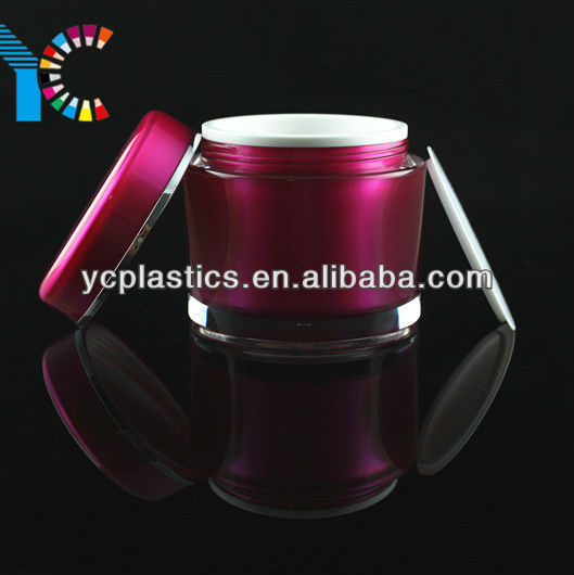 Cosmetic Container, Rose Red Big Acrylic Cream Jar