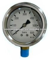 Oil Liquid Filled Pressure Gauge Bourdon Tube