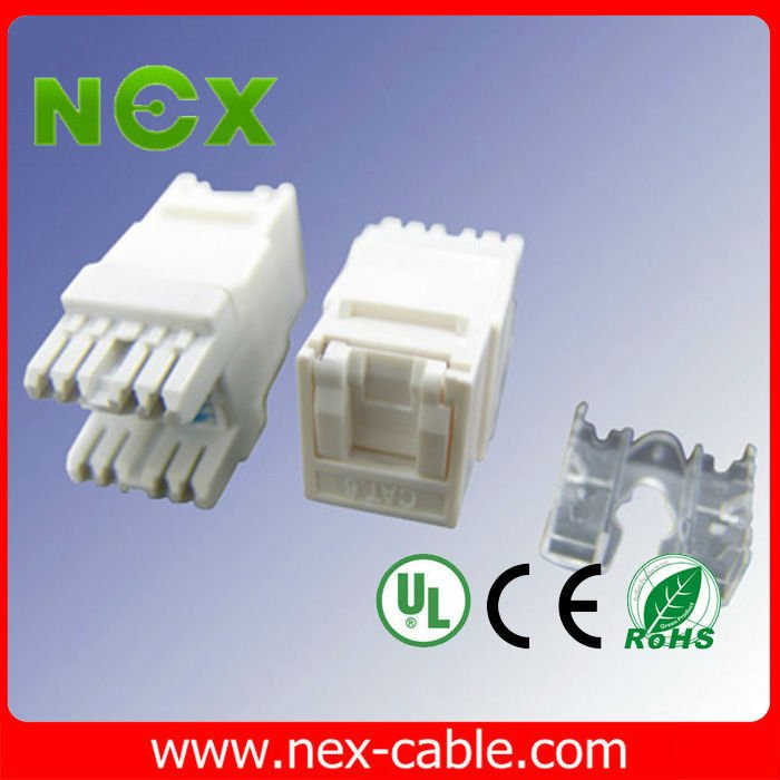 cat6 modular jack with dust-proof shield