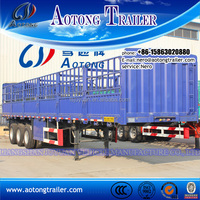 Attractive price 3 axle cow transport truck trailer / livestock semi trailer / cattle transporter trailer