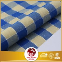 Yarn dyed polyester cotton tc fabric shirts made to
