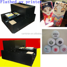 2017 newest multicolor low price led a3 size uv flatbed printer with best price