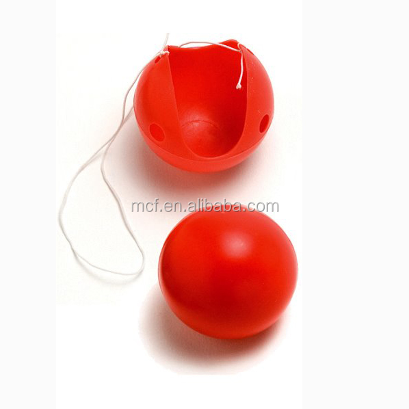 Party red plastic clown nose HAL-0007