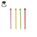4.5cm Hot Selling Food Grade Colorful Short Food Picks Bento Picks