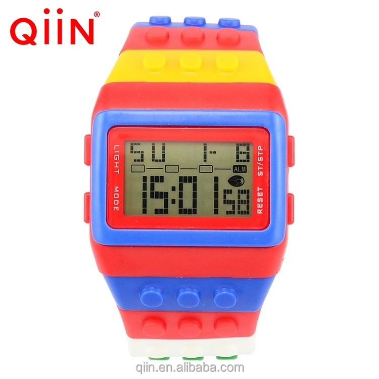 Fashion Silicon Trendy Sport Watches for Women with High Quality Qiin QS715