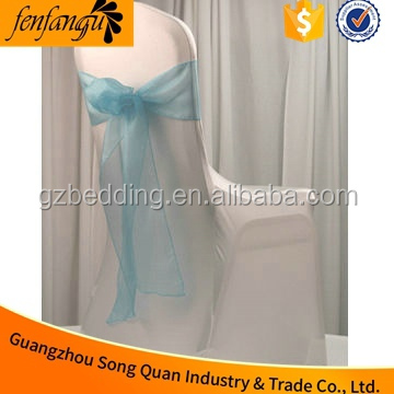 Standard size chair cover/wedding banquet chair cover and organza sash