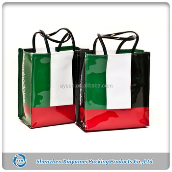 custom made pvc vinyl shopping bag tote