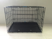 America hot sale Wholesale Pet Cage dog crate kennel with plastic tray