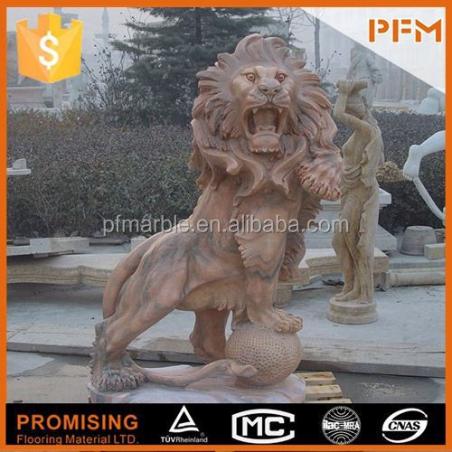 2014 hot sale natural marble made hand carved marble horse fighting eagle sculptures