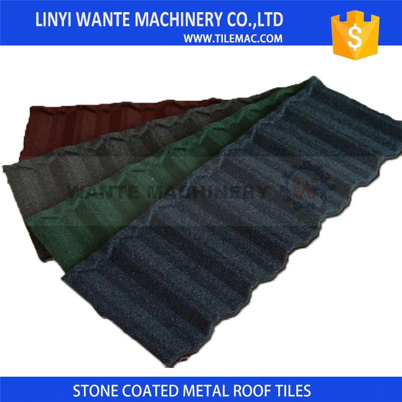 High extremely hot or cold weather resistance stone coated metal roof tile with 50 years warranty