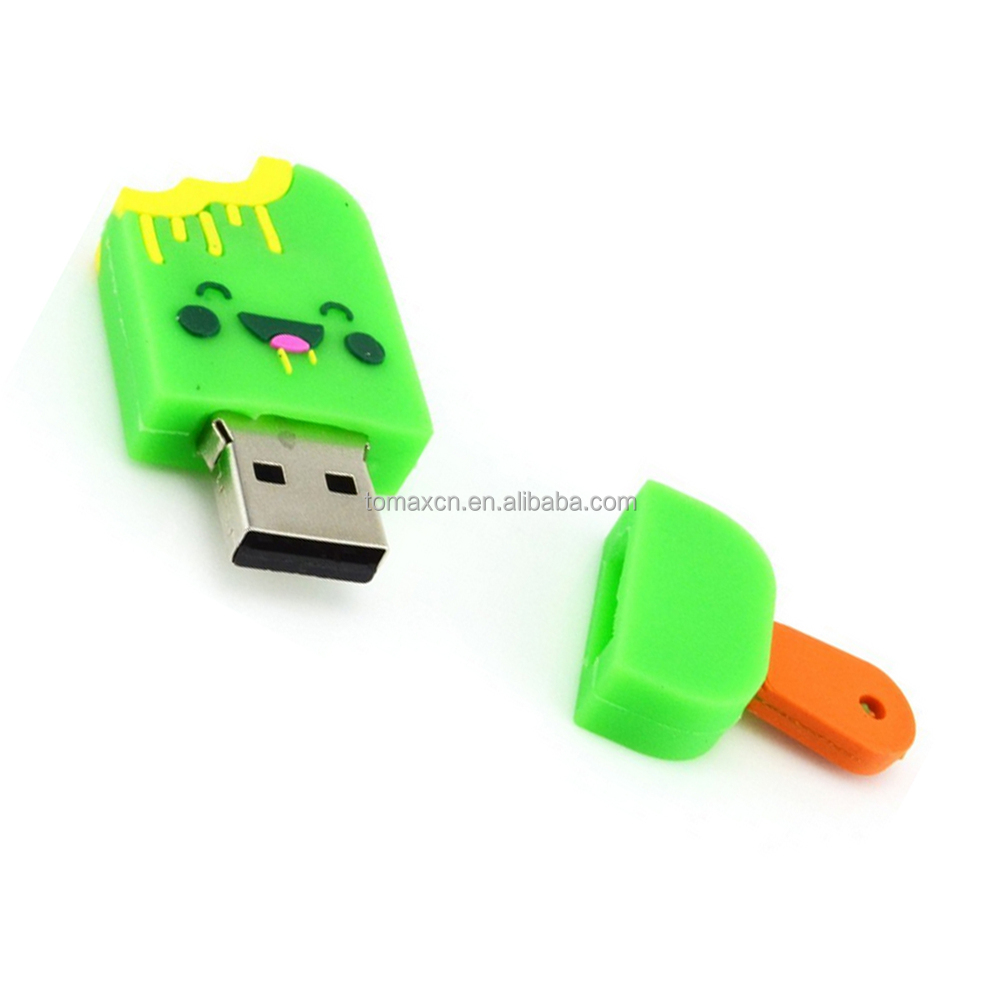 Best giveaways cute ice cream shape usb flash pen drive with logo
