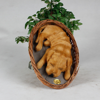 taxidermy products sleeping pets toy dog that breathes