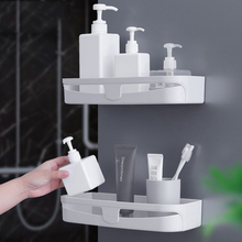 With Hooks Easy To Install Triangle Bathroom Wall Corner Mount Storage Holder Rack Non-marking Corner <strong>Shelf</strong>