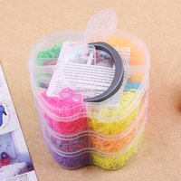 Mistress layer Apple set holder DIY Bracelet weaving factory wholesale custom rubber band rainbow
