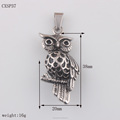 Classic Design Fashion Owl Stainless Steel Pendant Necklace