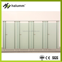 Good Quality Phenolic Toilet Partition Cubicle Mobile Bathroom Portable HPL Panel Partitions
