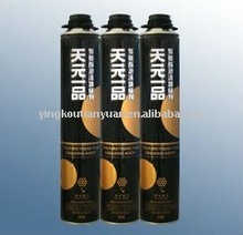 glass aerosol canned polyurethane PU foam spray sealant in construction in china