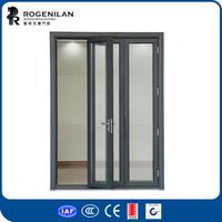 ROGENILAN aluminum bifold door hardware frosted glass foldable door