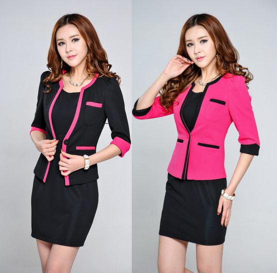 W70796G elegant women fabric for business suit office suits for women skirt suit office workwear new style