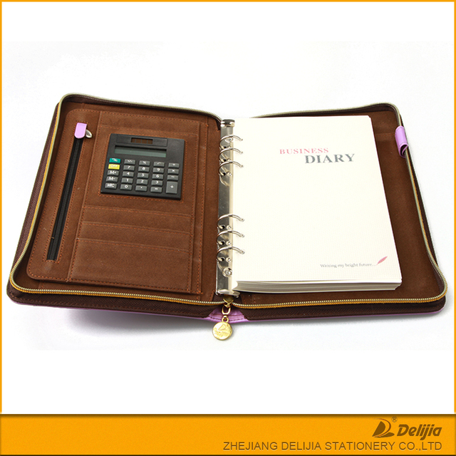 2017 Softcover luxury leather yearly weekly planner zipped diary cover