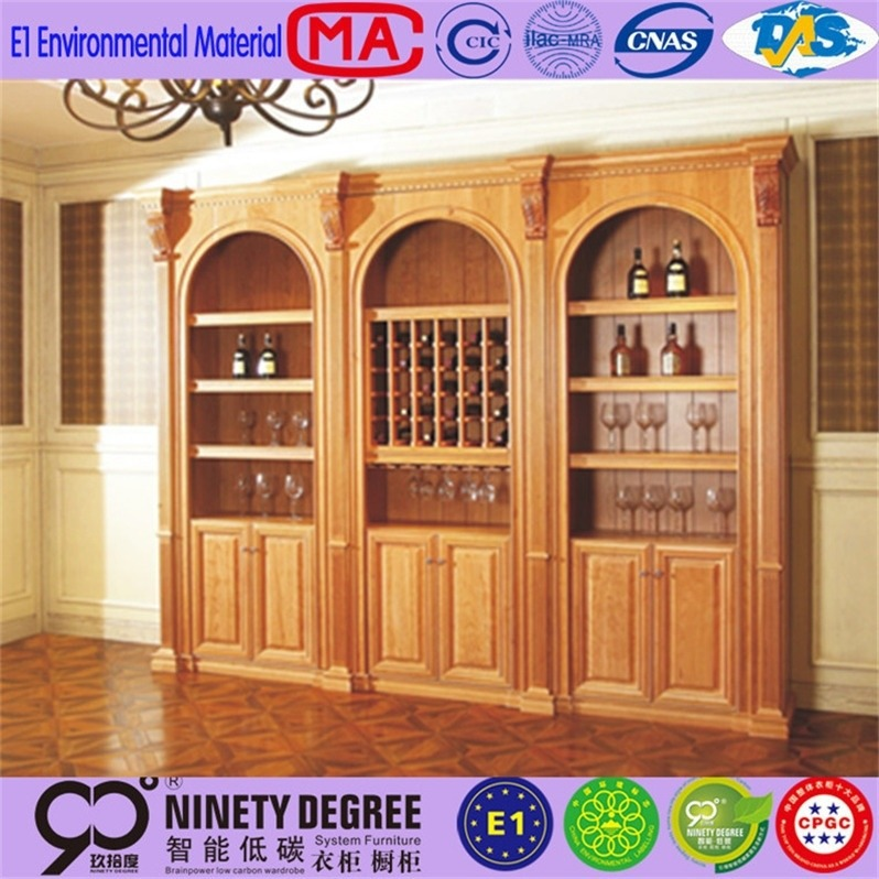 recessed adjustable stainless steel wine display cabinet