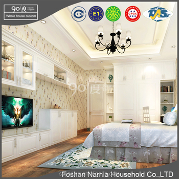 Ninety Degree luxury bedroom furniture king size with tv studio furniture