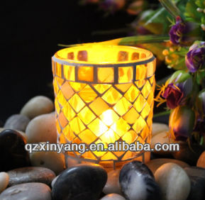Wholesale Tall Mosaic Glass Candle Holders