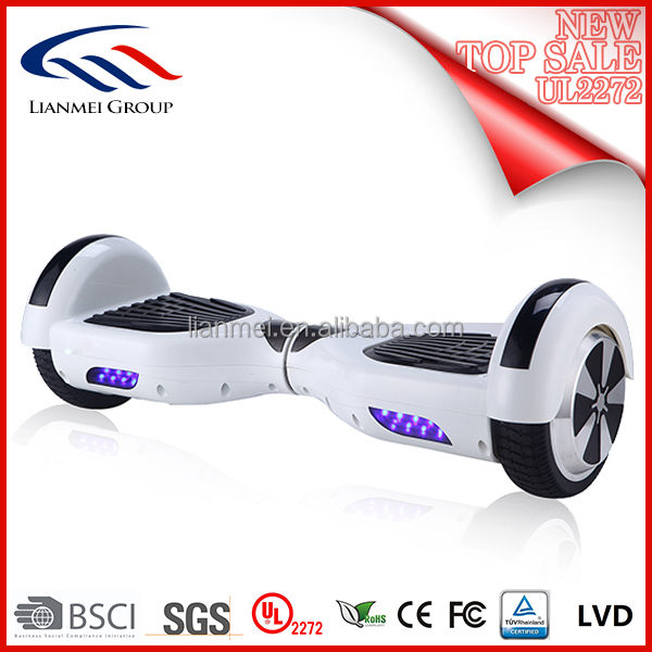 China UL 2272 Improved Hoverboard Two Wheels Self Balancing Electric Scooter 6.5 Inch