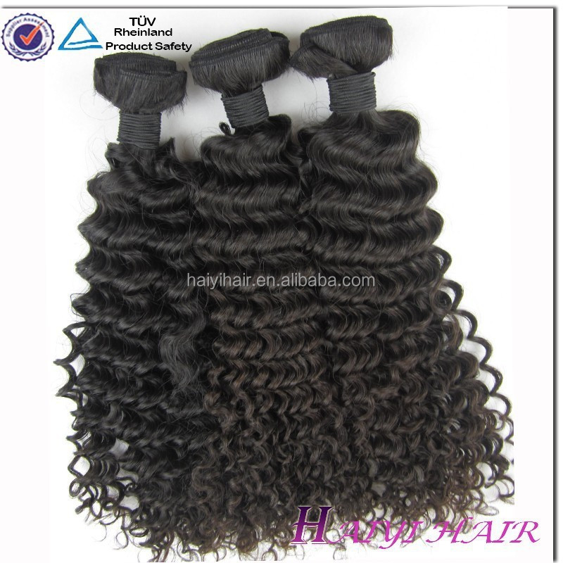 6A grade China Manufacture Deep Wave Real Peruvian Human Hair