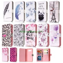 New Arrival Colorful Printing Leather Flip phone Case for Samsung Note 8
