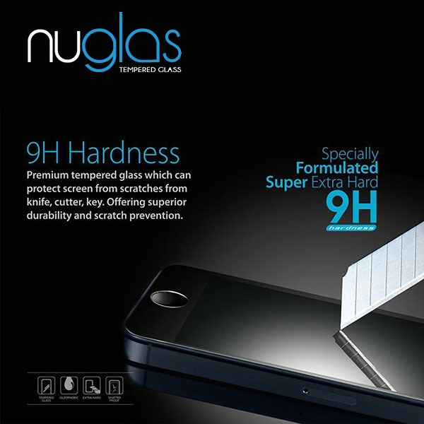 Nuglas Anti-scratch High Transparency 2.5D Tempered Glass Screen Protector for iPhone 5